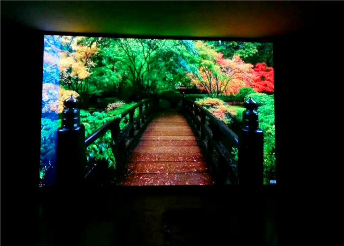 Small Pixel Pitch Full Color HD LED TV , Adversiting Multi Color LED Full HD TV